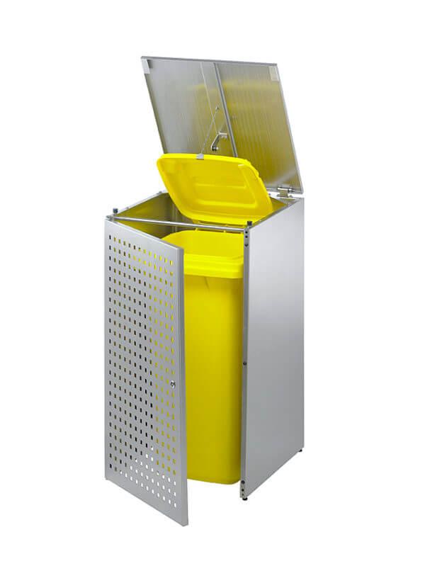 Edelstahl Mülltonnenbox als Verkleidung der Mülltonne