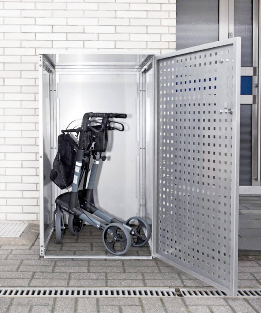 Garage Edelstahl für Rollator und Rollstuhl