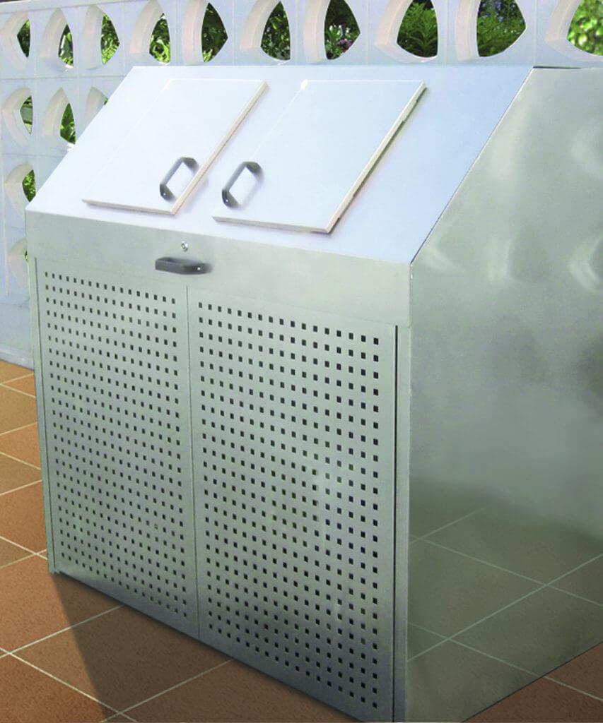 Mülltonnenbox Variobox Edelstahl geschlossen