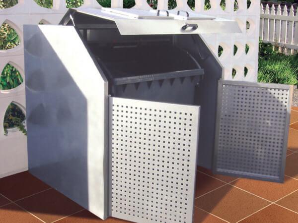 Variobox aus Edelstahl geöffnet