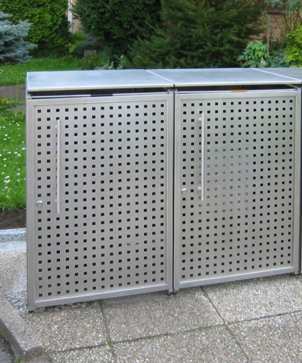 Mülltonnenbox-Edelstahlgriff